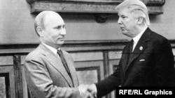 Владимир Путин и Дональд Трамп. Коллаж