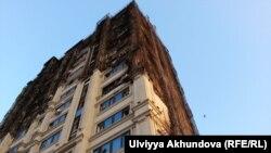 Сгоревшее 19 мая здание