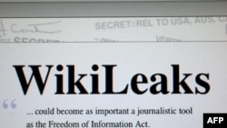 Главная страница портала Wikileaks
