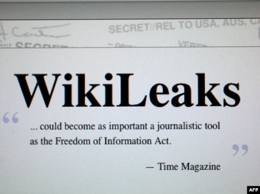 U.S. - The homepage of the WikiLeaks 