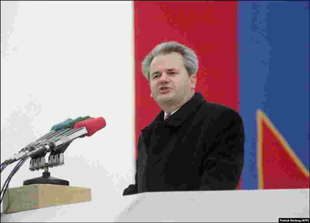 Fjalimi i Millosheviqit u paraqit nga Prokuroria e Hagës si provë e qëllimeve të tij të luftës, ndërsa Millosheviq deklaroi se fjalimi i tij në Gazimestan është keqinterpretuar.
