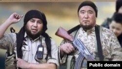 Kazakhstan - Marat Maulenov (R), Kazakh jihadist in Syria. Screenshot. Undated