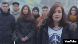 Кадр из видеообращения киевских студентов