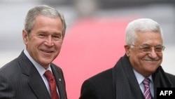 Ramallah, George W. Bush i Mahmud Abbas, 10. siječanj 2008