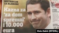 Naslovnica 'Večernjeg lista' o novom austrijskom zakonu protiv ekstremističkih simbola