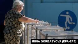 Secție de vot din Mariupol