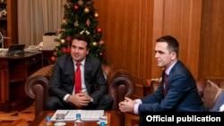 Скопје- премиерот Зоран Заев на средба со претседателот на Беса Билал Касами, 04.01.2019
