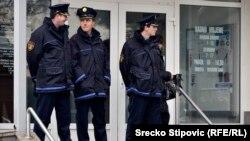 "Policija na protestu radnika ""Vitezita"", 13. januar 2014."