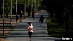 Утренняя пробежка в дни пандемии. Мадрид