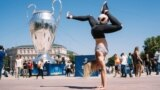 UKRAINE – Freestyle girl on the day of the final match of the Champions League in Kyiv, May 26, 2018