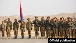 Армянские военные участвуют в военных учениях ОДКБ