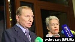 Леонід Кучма та Гайді Тальявіні у Мінську, архівне фото