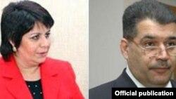 Депутат парламента Азербайджана Гюляр Ахмедова и бывший ректор университета Эльшад Абдуллаев.