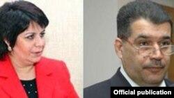 Бывший депутат Гюляр Ахмедова (слева) и бывший ректор Эльшад Абдуллаев (справа)