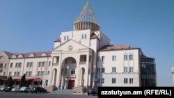 Nagorno-Karabakh -- The parliament building in Stepanakert, September 7, 2018.