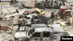 Місце теракту бойовиків «Ісламської держави» в іракському місті Хан-Бані-Саад, 18 липня 2015 року