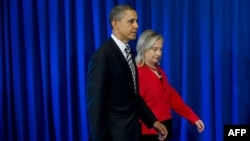U.S. President Barack Obama and Secretary of State Hillary Clinton