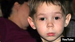 Three-year-old Max Shatto, born Maksim Kuzmin, before his death in January