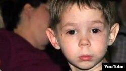 Three-year-old Max Shatto, born Maksim Kuzmin, before his death in January