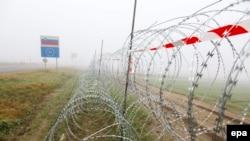 Žica na granici Slovenije i Hrvatske