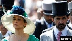 Принцесса Хайя бинт аль-Хусейн c супругом шейхом Мохаммедом на королевских скачках в Аскоте, 2018 год.