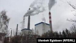 ТЭЦ Бишкека после модернизации на кредитные средства Китая на сумму 386 млн долларов. 30 января 2018 года.