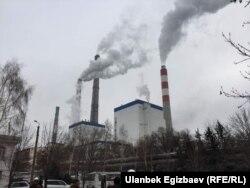 ТЭЦ Бишкека спустя несколько дней после аварии. 30 января 2018 года.