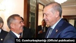 Президенты Татарстана и Турции Рустам Минниханов и Реджеп Тайип Эрдоган