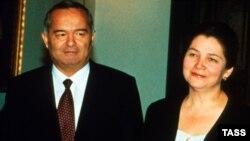 Президент Узбекистана Ислам Каримов с супругой Татьяной. 1995 год.