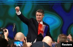 Зоран Міланович після перемоги на виборах. 5 січня 2020, Загреб
