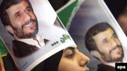 Prezident Mahmud Əhmədinejatın seçki kampaniyası. Tehran, 2 iyun 2009