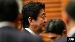 Жапония премьер-министрі Синдзо Абэ. Токио, 25 қыркүйек 2015 жыл. (Көрнекі сурет)