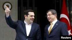 Ahmet Davutoglu və Alexis Tsipras