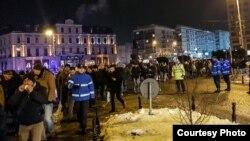 Антикоррупционный протест в столице Румынии Бухаресте, 20 января 2018 года