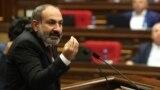 Ermenistanyň premýer-ministriniň wezipesini ýerine ýetiriji Nikol Paşiniýan.