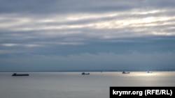 Корабли в Керченском проливе, иллюстрационное фото