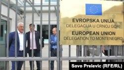 Lideri DF-a Andrija Mandić, Nebojša Medojević i Milan Knežević još u julu su bili na razgovoru u Delegaciji EU u Crnoj Gori