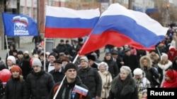 Шествие в День народного единства в Красноярске