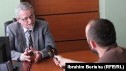 Foto nga intervista e Goranit për Radion Evropa e Lirë
