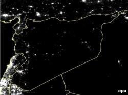 Сирия ночью. Спутниковая съемка, февраль 2015 года