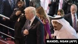 ترامپ و سلمان پادشاه عربستان سعودی در ریاض