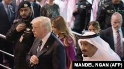 Трамп и король Саудовской Аравии Салман