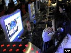 Интернет-кафе. Қытай, 15 қаңтар 2009 жыл. (Көрнекі сурет)