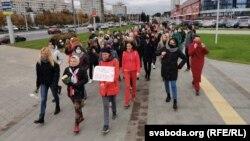 Жіночий марш у Мінську, 17 жовтня 2020 року