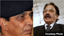 Pakistan's military chief General Ashfaq Pervez Kayani (left) and chief justice Iftikhar Muhammad Chaudhry