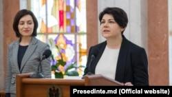 Natalia Catrinescu-Gavriliţă, la depunerea jurământului. 11 iunie 2019