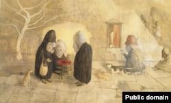 """Картина Леоноры Каррингтон """"Цветок Крон"""", 1987"""