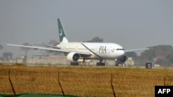 A Pakistan International Airline plane taxis on the runway in Islamabad. (file photo)