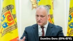 Președintele Igor Dodon la o scurtă conferință de presă despre măsurile luate pentru limitarea epidemiei de coronavirus, Chișinău, 9 martie 2020