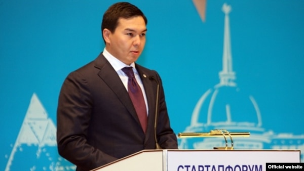 Нурали Алиев, старший внук президента Казахстана Нурсултана Назарбаева, в бытность заместителем акима Астаны.